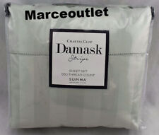 Charter Club Damask Stripe 550 Thread Count King Sheet Set Glacier
