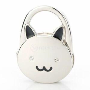 Mirror Cat Folding Bag Handbag Purse Table Hook Hanger Holder Gift