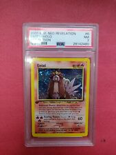Pokemon WOTC 1st edition  Neo Revelation Entei 6/64 PSA Holo BIG SWIRL  POP 19