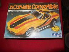 Vintage MPC 1975 Chevrolet Corvette Roadster 1/25 scale model kit 2 in 1 1970`s