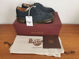Dr. Martens Indigo Suede 1461 Shoes Size UK 5 Made in England * NEW * RRP £180