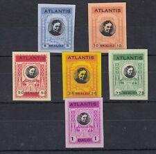 Kingdom Of Atlantis Fantasy Collection Of 5 Values To 1 Dalo Imperf MNH JK182