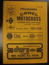 Programmaboekje Camel Motocross Kamp.cross zijspannen Holten (NL) 30 april 1982