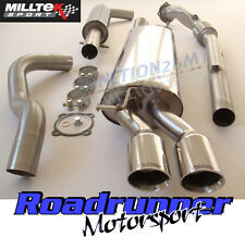 Milltek Golf 1.8T MK4 Exhaust De Cat Downpipe & Cat Back Resonated Twin GT80