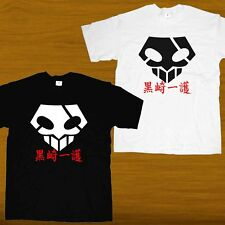 New Bleach Ichigo Kurosaki Bankai Hollow Skull Mask Japanese Manga Anime T-shirt