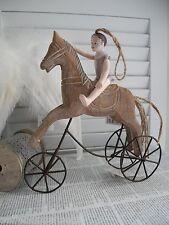 Pferd Karusselpferd Schaukelpferd Dreirad Deko Dekoration Landhaus SHABBY chic