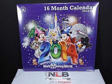 NEW 2013 & 2014 Disney Parks Disneyworld 16 Month Wall Calendar