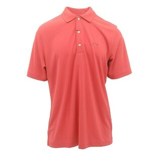 Mens Size Greg Norman 100% Play-Dry Performance Polyester Golf Polo Shirt New