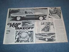 """1971 Chevy Vega Vintage Pro Street Article """"Clear for Takeoff"""" ---From 1985---"""
