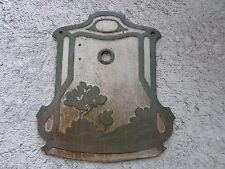 Jugendstil Emaille Wandrosette -  Rosette - Brunnen Wasser - Hahn Becken Ablauf