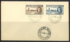 PITCAIRN ISLAND 1947 VICTORY STAMP SET ON UNADDRESSED FIRST DAY COVER FDC (FINE)
