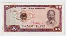 Vietnam 30  dong      1981  q FDS  a UNC  pick 87  lotto 1044