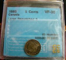 Canada 1885 Five Cents; Small double 5; *Graded VF-30*
