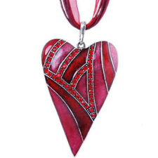 Charm Fashion Heart Love Jewelry Crystal Chain Statement Women Necklace Pendant