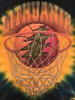 Vintage Grateful Dead Lithuania 1996 National Basketball Team Shirt Size Medium