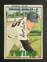 Dwight Siebler Twins signed 1967 Topps baseball card #164 Auto Autograph 2