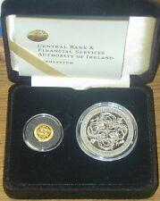 IRELAND :   GOLD & SILVER PROOF COIN SET 2007.  CELTIC CULTURE.