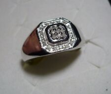 MENS Diamond Ring Size 12 27 diamonds .25tcw MSRP$599