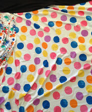 Swim-Suit Fabric Lycra Spandex Supplex Dot Spot Rainbow Pink Blue Yellow 62W BTY