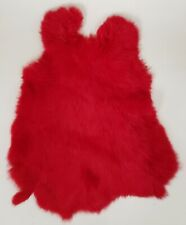 Rabbit Fur Pelt Dyed Single Hide 1.6 oz. Skin Bright Red Leather Crafts Props