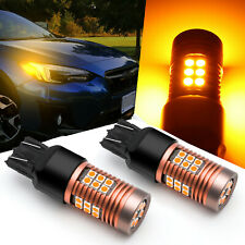 Amber 7443 7444 CK SCK LED Front Rear Turn Signal Light Bulbs For Lexus IS NX GS