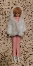 VINTAGE 1962 BUBBLE CUT BARBIE STRAWBERRY BLONDE HAIR IN VTG OUTFIT LIGHT LIPS