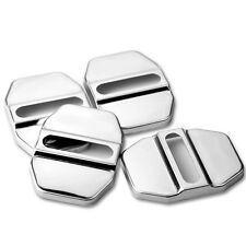 4xAuto Car SUV Decorative Accessory Stainless Steel Door Lock Protective Cover