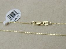 Pure 10K Solid Yellow Gold Box Necklace Real Gold Chain With Lobster Clasp