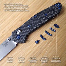 Benchmade 940-1 Osborne Knife 15PC BLUE Anodized Titanium Torx Screw Set + Pivot