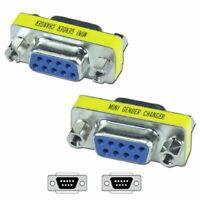 Female to Female Adapter Adaptor Gender Changer Serial RS232 Coupler 2×DB9