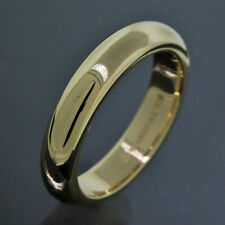 Tiffany & Co. Wedding Band 14K Yellow Gold 4MM Wide Ring Size 5.25