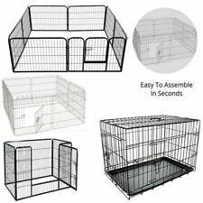 4 / 8 Panel Pet Fold Portable Dog Cat Guinea Hamster Garden Play Pen Fence Cage