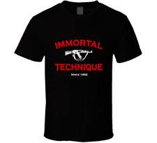 Immortal Technique Logo Band gun red black white tshirt men's free shipping