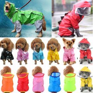 Pets Dog Coat Reflective Jacket Raincoat Clothes Rain Coats Waistcoat Waterproof