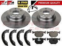 FOR BMW X5 E53 3.0 D 3.0i 00-06 REAR BRAKE DISCS PADS SENSORS AND SHOES SET
