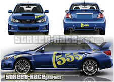 Subaru Impreza Rally Touring Car 011 Graphique Stickers Autocollants 555