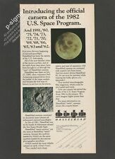 HASSELBLAD official camera of the U.S. Space Program 1982 Vintage Print Ad