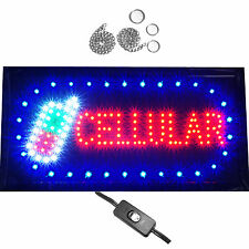 Cellular Mobile Cell Phone Store Repair Lock Unlock Shop LED Open Business Sign