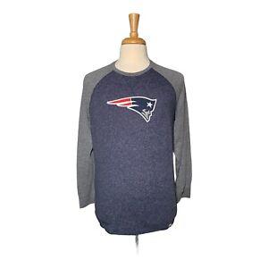 New England Patriots Men's L Gray Majestic Long Sleeve Shirt