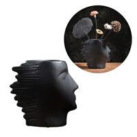 Face Shape Vase Fashionable Flower Vase Ceramics Creative Decor Ceramic Artwork
