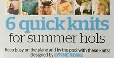 KNITTING PATTERN 6 Quick Knits for Holidays Beach Bag Headband Bunting Cushion