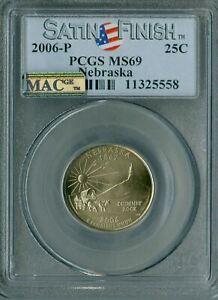 2006-P NEBRASKA QUARTER NGC MAC MS69 SMS PQ FINEST MAC SPOTLESS *