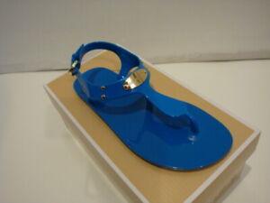 NEW Women's MICHAEL KORS MK PLATE JELLY Pool Blue Size 6