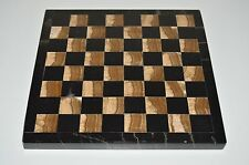 """Nice Vintage Beautiful Small Marble CHESS Checkers Brown Tile Board Rare 8X8"""""""