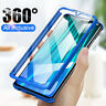 For Huawei Honor 20 Pro 10 9 8 Lite 9X 8X 360° Full Case Cover + Tempered Glass