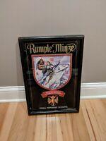 Rare Rumple Minze Schnapps Clock Sign Bar Beer Vintage Woman Warrior