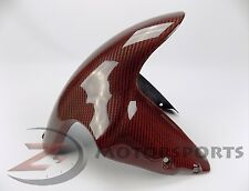 Ducati 848 1098 1198 Front Tire Fender Mud Guard Cowl Fairing Carbon Fiber Red