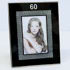 """Happy 60th Birthday Glass Picture Photo Frame 4""""x6"""" Gift Idea for Her Keepsake"""