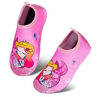 Toddler Kids-Water-Shoes Lightweight Non-Slip Aqua-Socks Swim-Shoes for Beach...