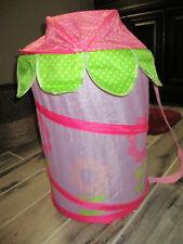Pop Up Foldable Clothes Laundry Hamper Basket Storage Bin Girls Flower Print
